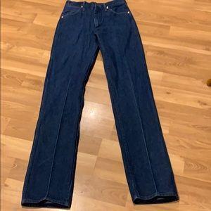 Wrangler western blue jeans size 33X40